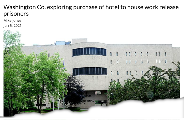 Washington Co. exploring purchase of hotel to house work release prisoners
